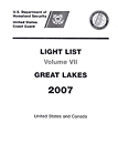 Light List, Vol. 7: Great Lakes (United States & Canada)