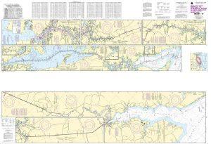 12206 Norfolk to Albermarle Sound via North Landing River or Dismal Swamp Canal