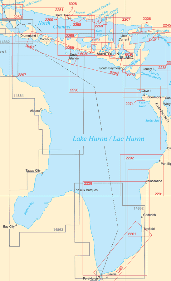 Catalogue: Lake Huron Paper Charts