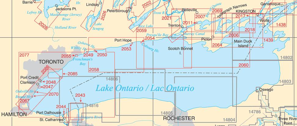 Catalogue: Lake Ontario & 1,000 Islands Paper Charts