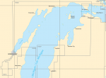 Upper Lake Michigan Paper Charts