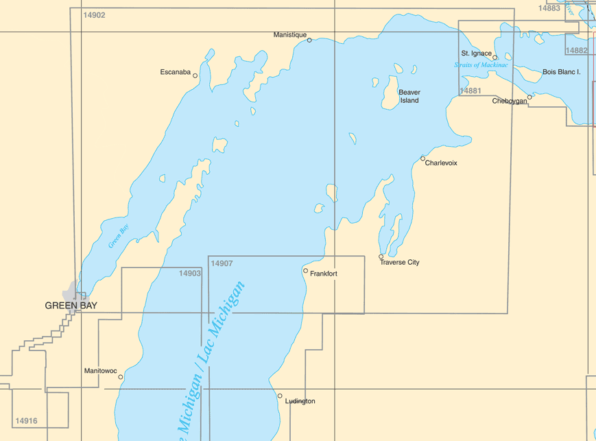 Catalogue: Upper Lake Michigan Paper Charts