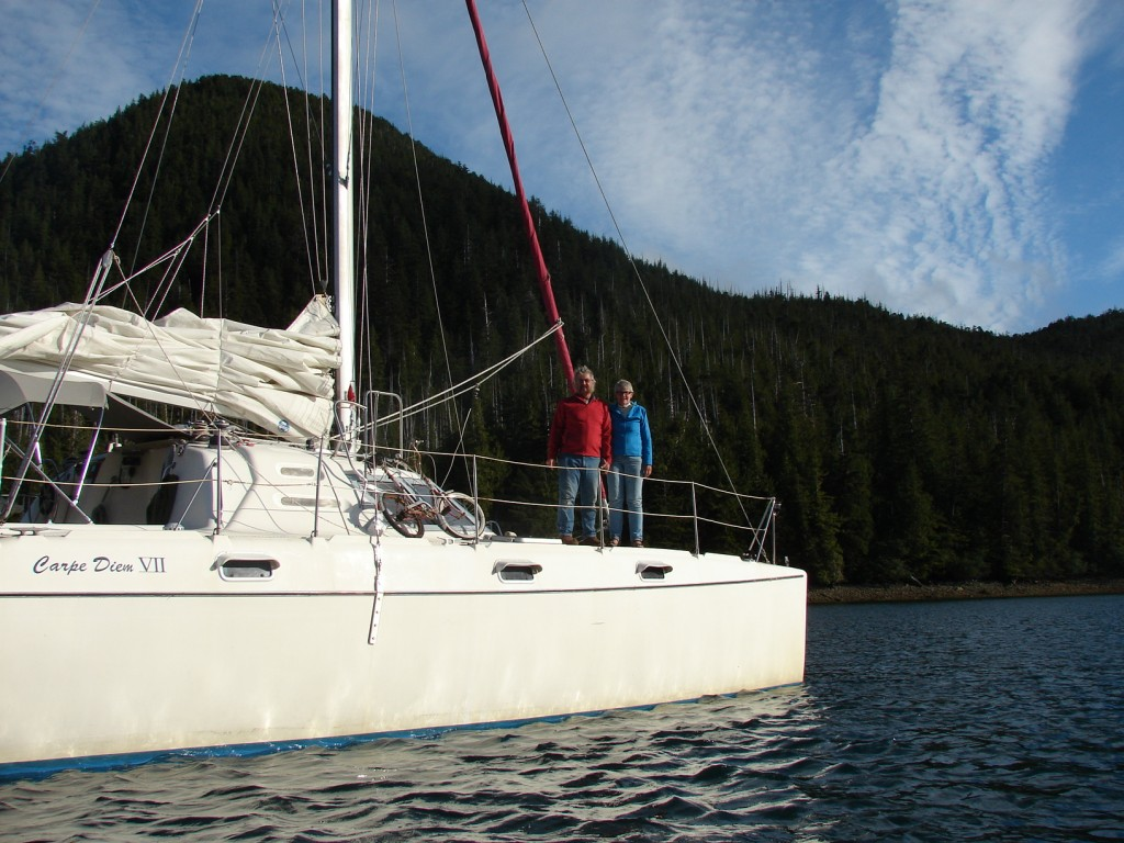 Fiona McCall & Paul Howard aboard Carpe Diem