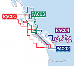 CHS Digital Charts for the Pacific Coast