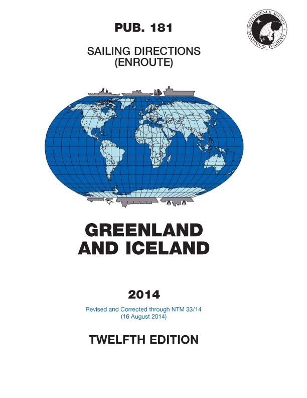 Sailing Directions: Greenland and Iceland (Enroute) - Pub. 181 by ...