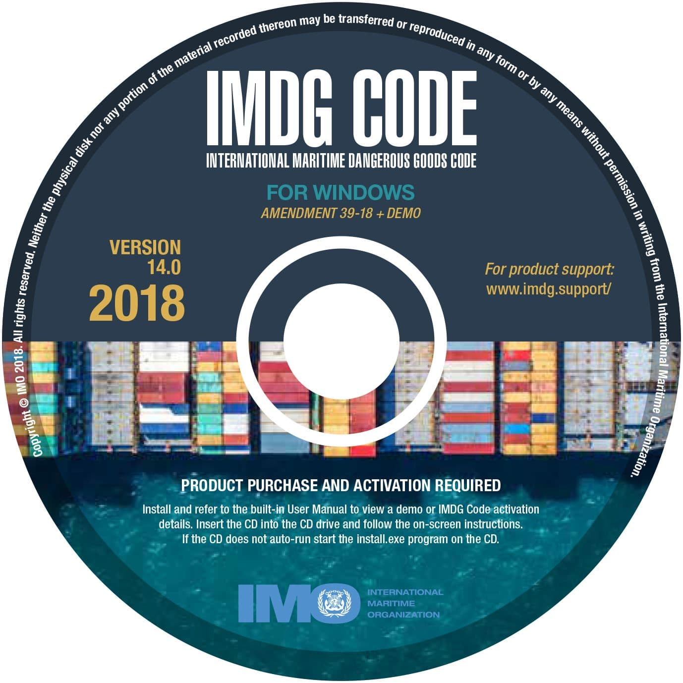 IMDG Code on CD-ROM, for Windows v14 (2018)