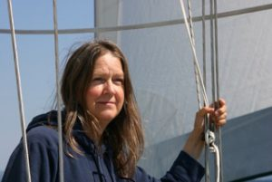 Linda in the rigging
