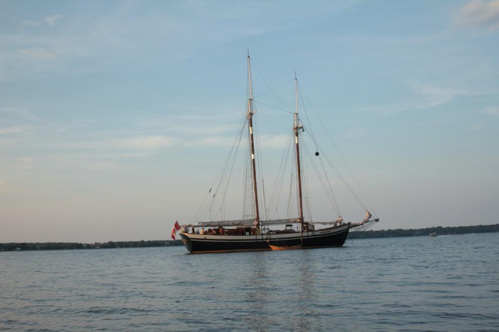 Mist of Avalon at Anchor