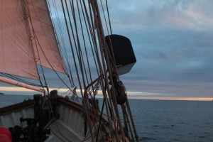 Sunset on the sails